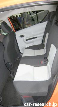 Prius C rear seat