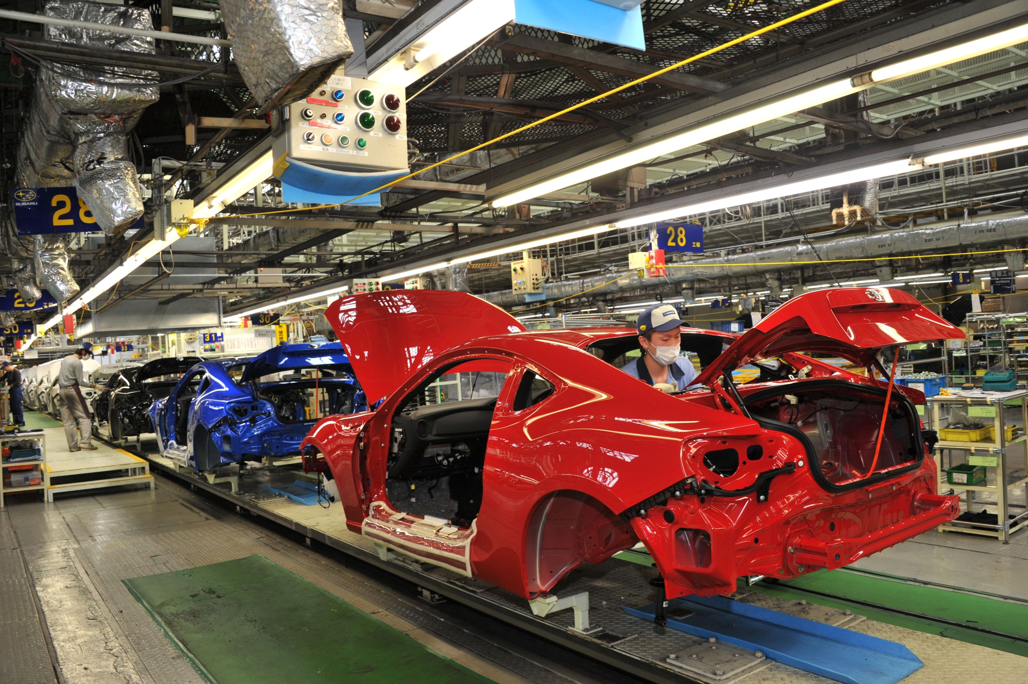 86とBRZの生産工場